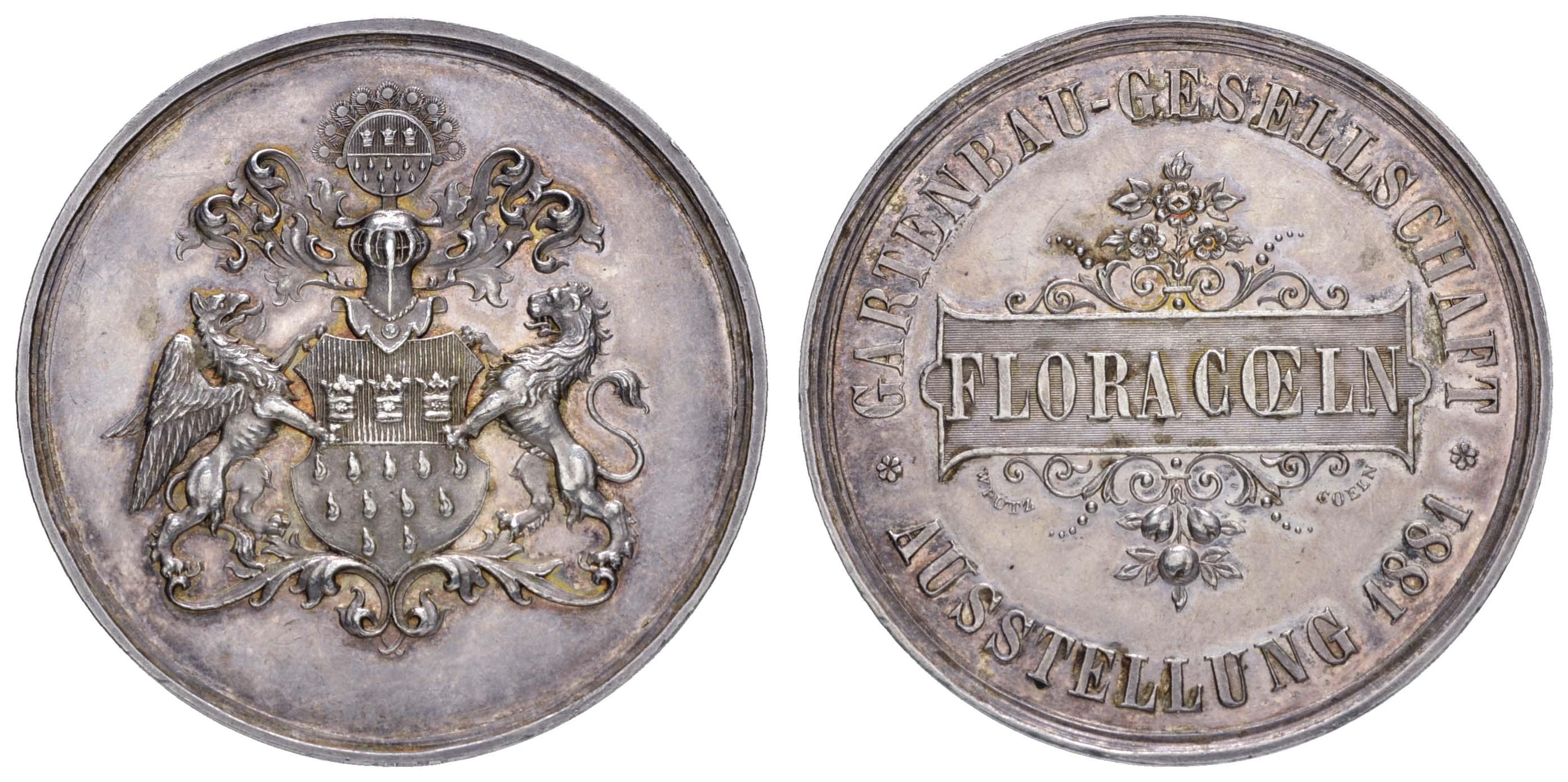 Lot 2122 - medaillen Sonstige Medaillen - Städtemedaillen -  Auktionshaus Ulrich Felzmann GmbH & Co. KG Auction 161 from March 6-10, 2018