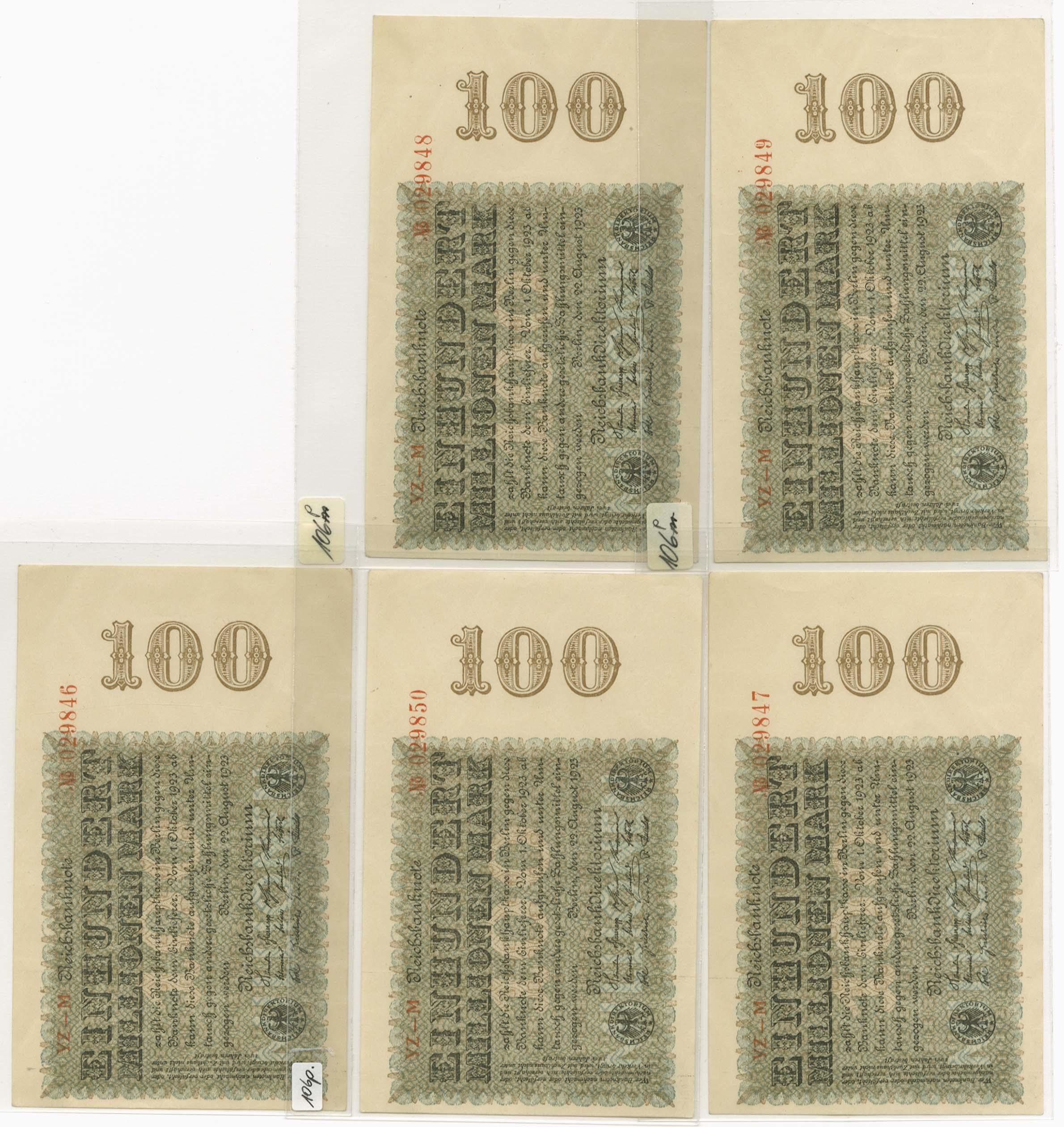 Lot 2138 - Geldscheine Deutschland - Deutsches Reich -  Auktionshaus Ulrich Felzmann GmbH & Co. KG Auction 161 from March 6-10, 2018