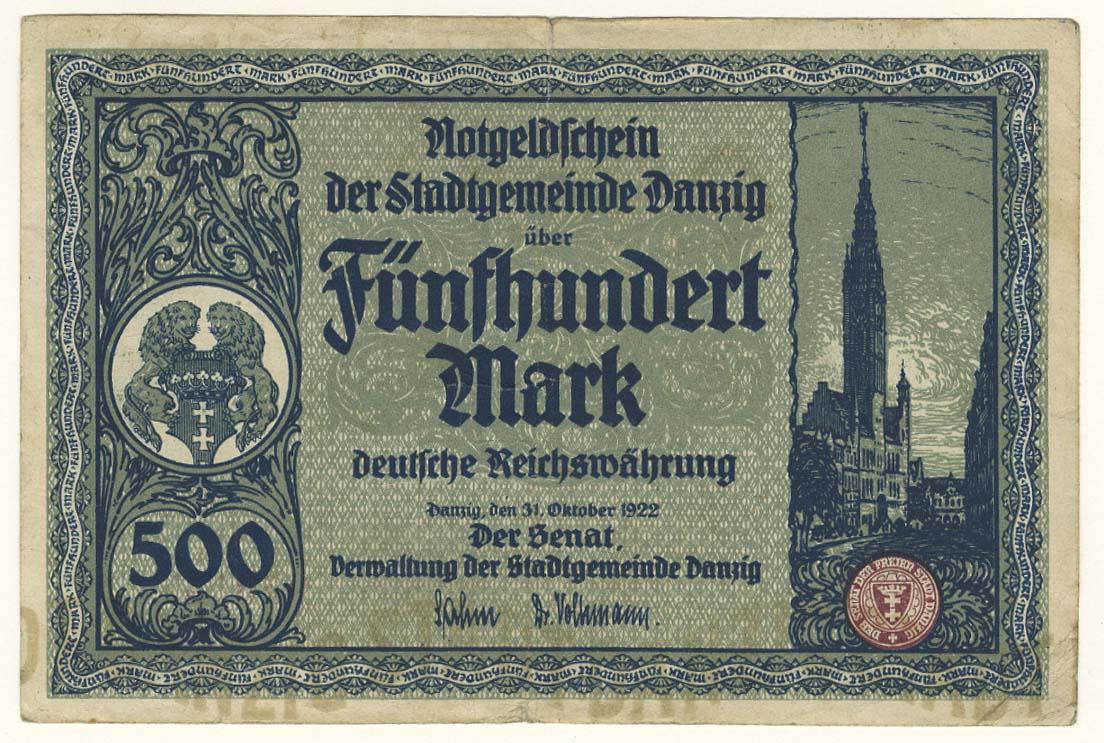 Lot 2144 - Geldscheine Deutschland - Freie Stadt Danzig -  Auktionshaus Ulrich Felzmann GmbH & Co. KG Auction #161 Philatelic & Numismatic