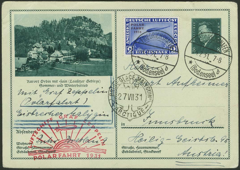 Lot 3356 - zeppelinpost nach sieger LZ 127 - 1931 -  Auktionshaus Ulrich Felzmann GmbH & Co. KG Auction 161 from March 6-10, 2018