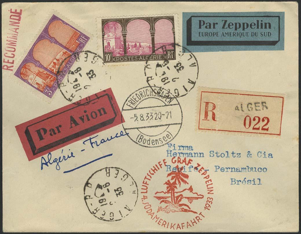 Lot 3673 - Zuleitungen Übersee A-Z - Algerien -  Auktionshaus Ulrich Felzmann GmbH & Co. KG Auction #161 Philatelic & Numismatic