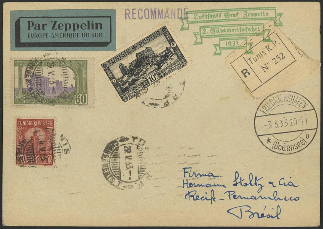 Lot 3689 - Zuleitungen Übersee A-Z - Tunesien -  Auktionshaus Ulrich Felzmann GmbH & Co. KG Auction #161 Philatelic & Numismatic