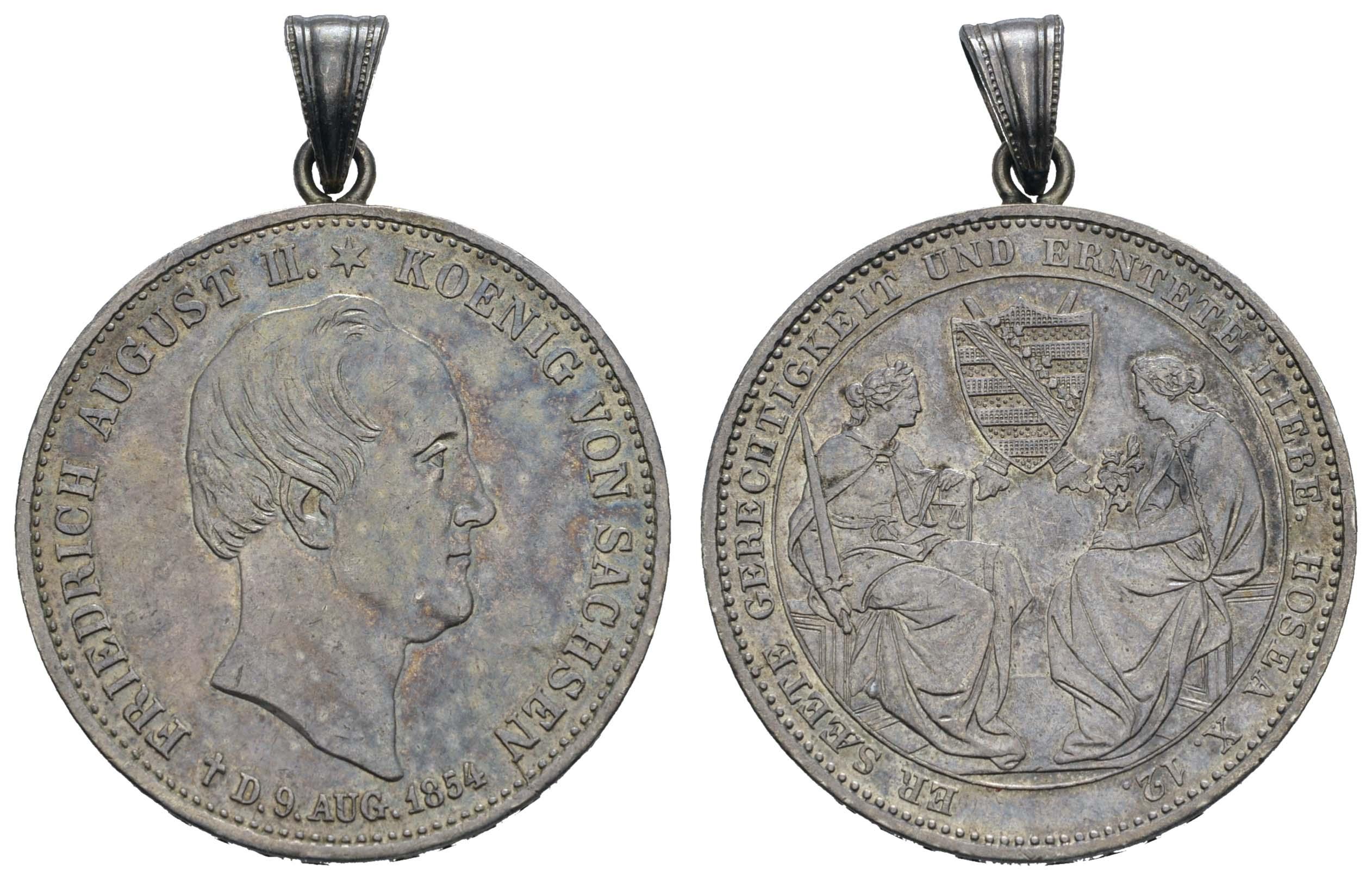 Lot 619 - deutschland 1800 bis 1871 - Sachsen -  Auktionshaus Ulrich Felzmann GmbH & Co. KG Coins single lots