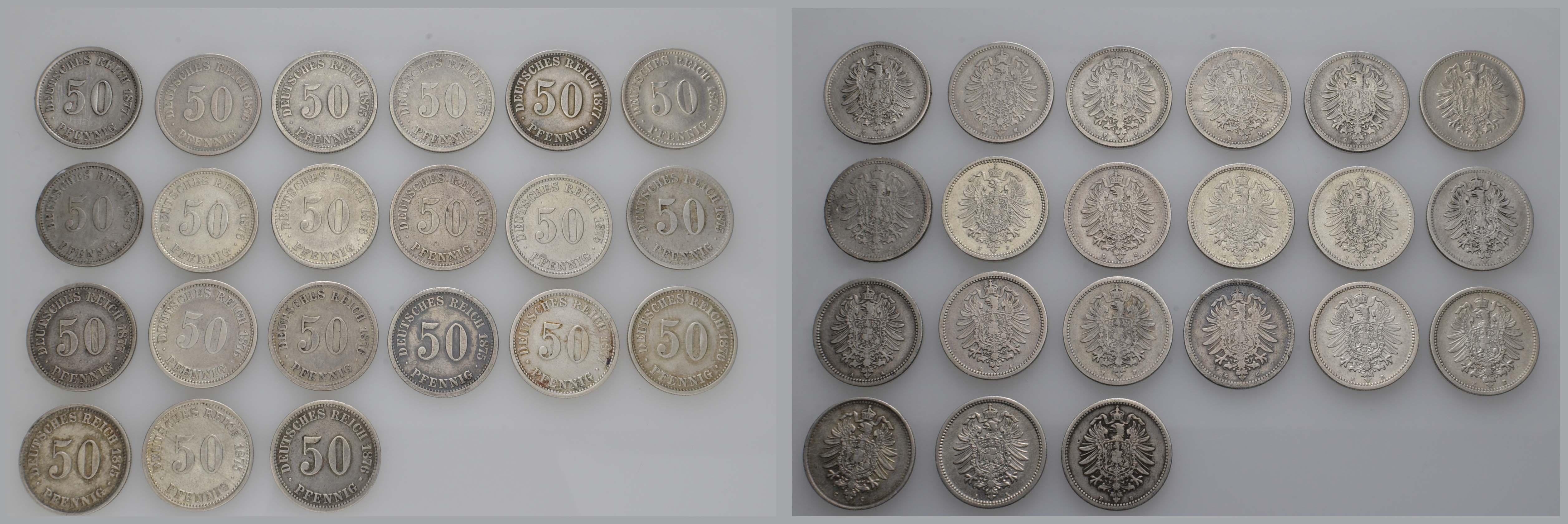 Lot 631 - deutschland Kaiserreich Silbermünzen - Kursmünzen -  Auktionshaus Ulrich Felzmann GmbH & Co. KG Coins single lots