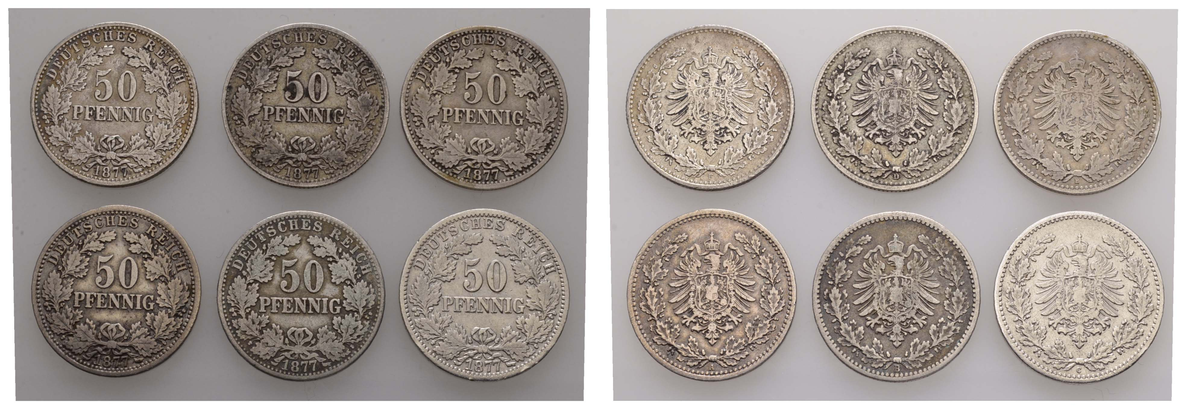 Lot 632 - deutschland Kaiserreich Silbermünzen - Kursmünzen -  Auktionshaus Ulrich Felzmann GmbH & Co. KG Coins single lots