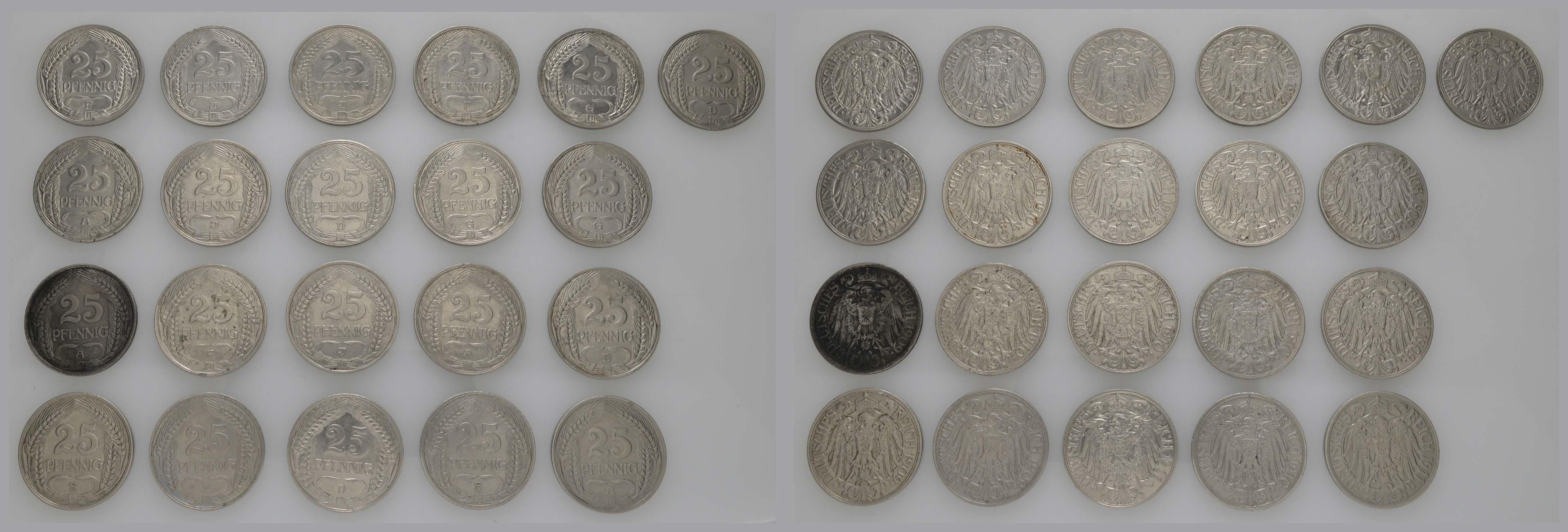 Lot 652 - deutschland Kaiserreich Silbermünzen - Kursmünzen -  Auktionshaus Ulrich Felzmann GmbH & Co. KG Coins single lots