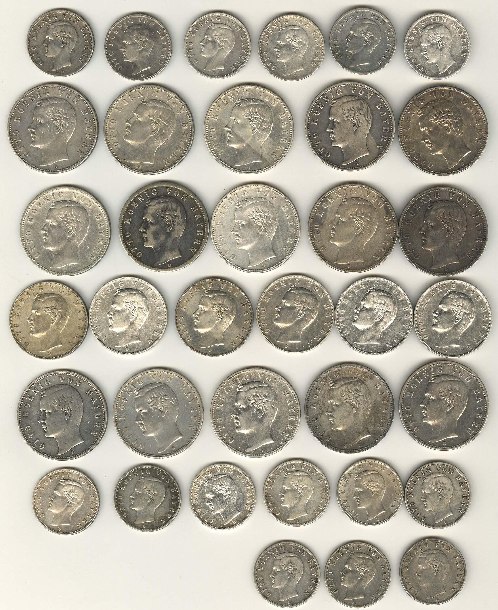 Lot 694 - deutschland Kaiserreich Silbermünzen - Bayern -  Auktionshaus Ulrich Felzmann GmbH & Co. KG Coins single lots