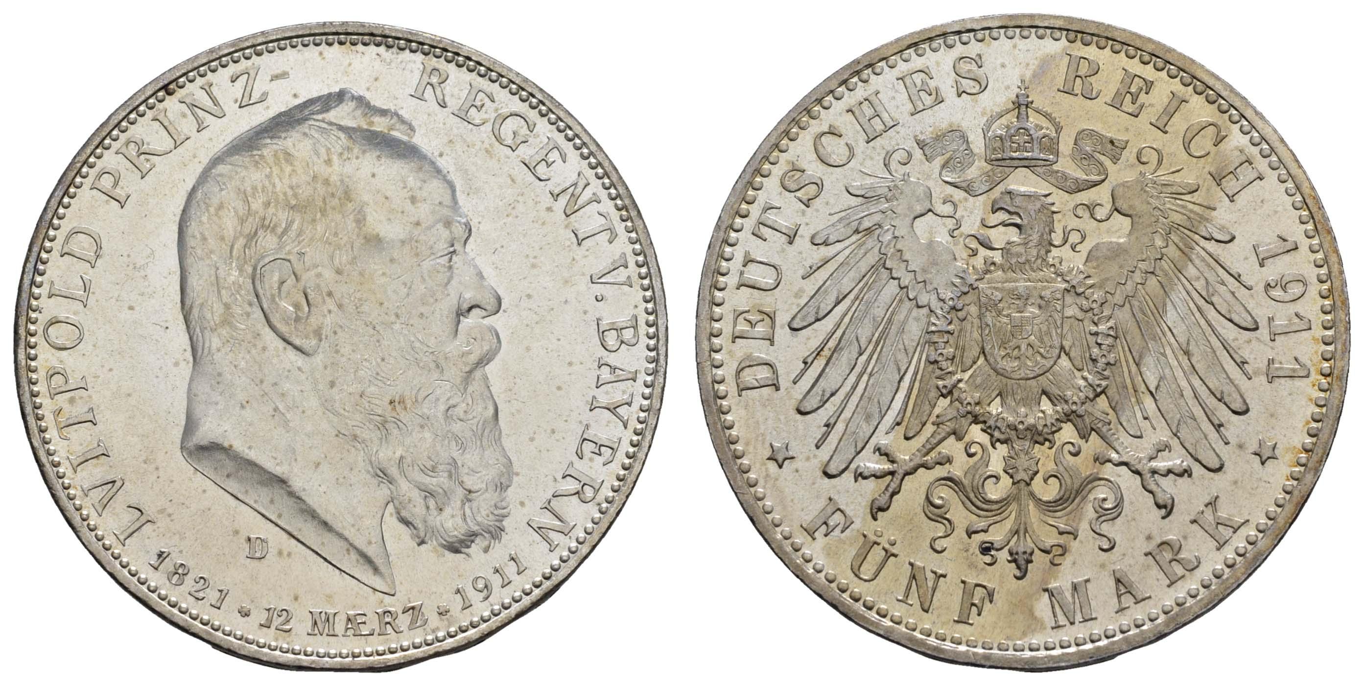 Lot 695 - deutschland Kaiserreich Silbermünzen - Bayern -  Auktionshaus Ulrich Felzmann GmbH & Co. KG Coins single lots