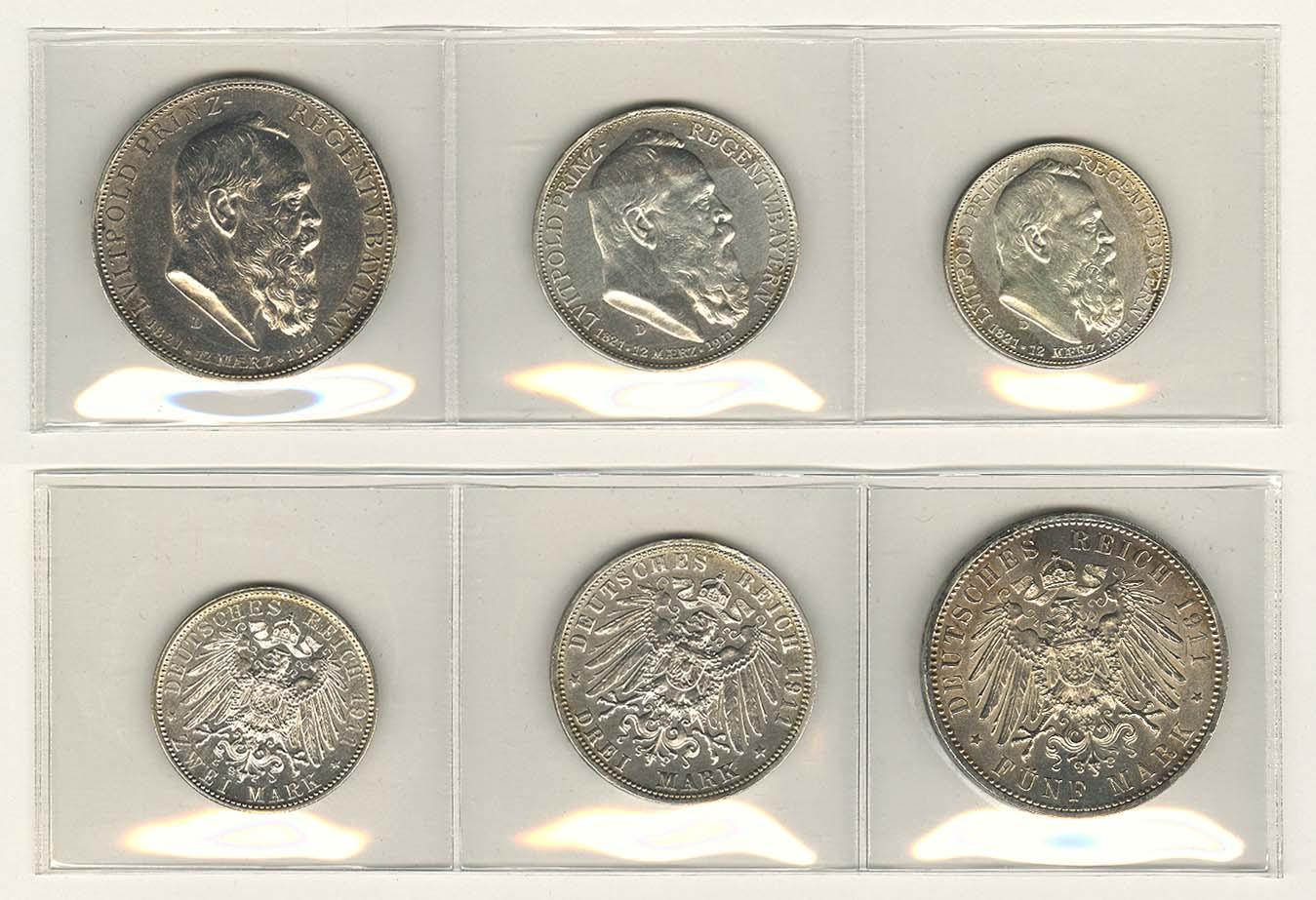Lot 696 - deutschland Kaiserreich Silbermünzen - Bayern -  Auktionshaus Ulrich Felzmann GmbH & Co. KG Coins single lots