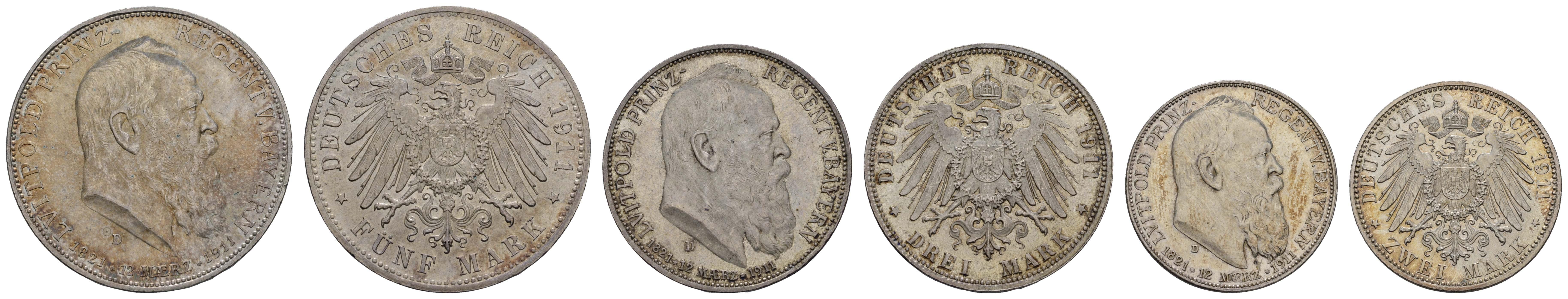 Lot 697 - deutschland Kaiserreich Silbermünzen - Bayern -  Auktionshaus Ulrich Felzmann GmbH & Co. KG Coins single lots