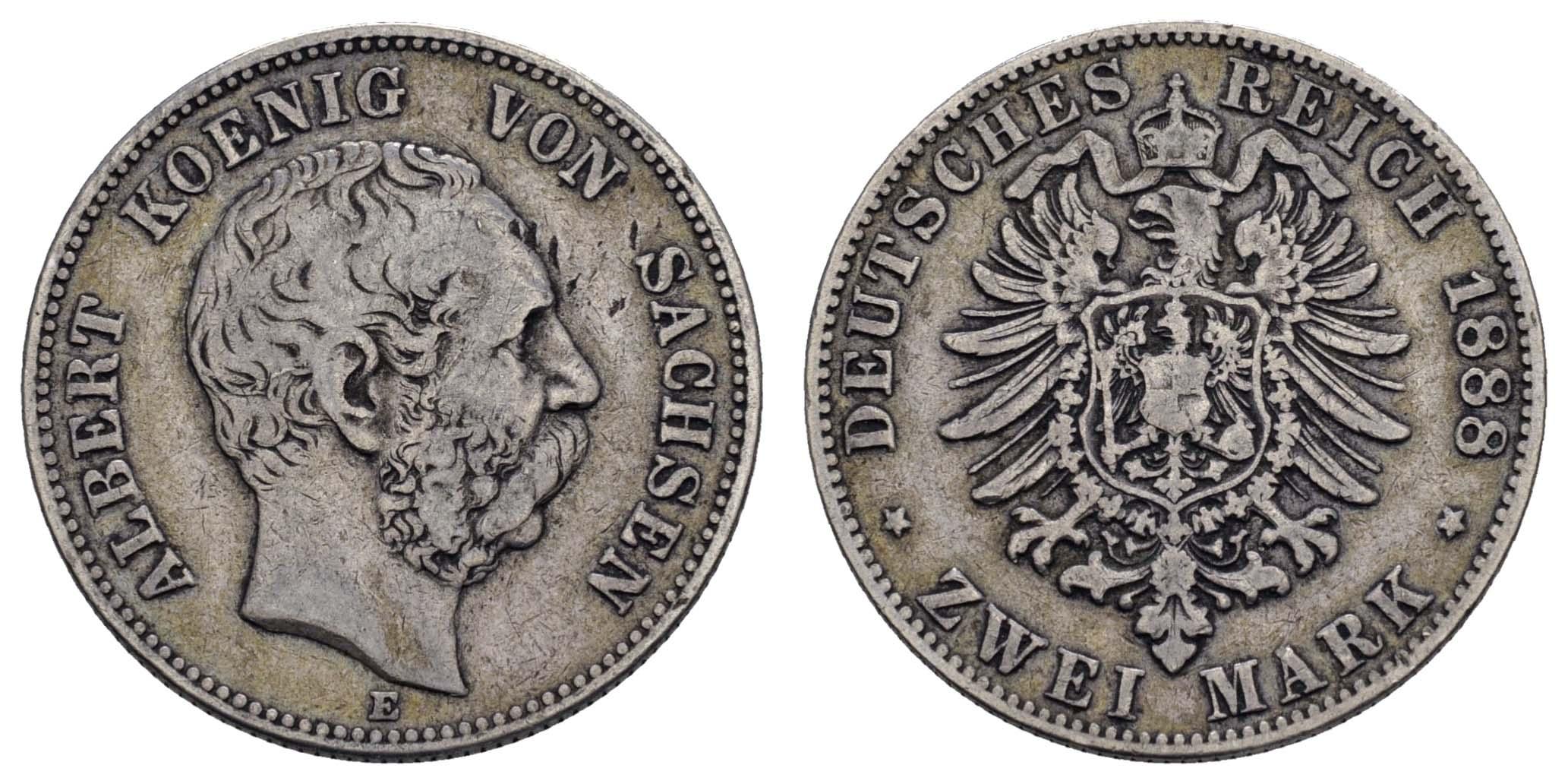 Lot 763 - deutschland Kaiserreich Silbermünzen - Sachsen -  Auktionshaus Ulrich Felzmann GmbH & Co. KG Coins single lots