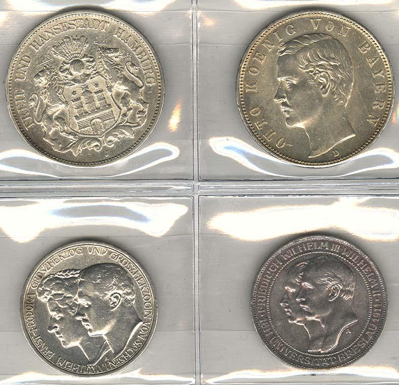 Lot 798 - deutschland Kaiserreich Silbermünzen - Allgemein -  Auktionshaus Ulrich Felzmann GmbH & Co. KG Coins single lots
