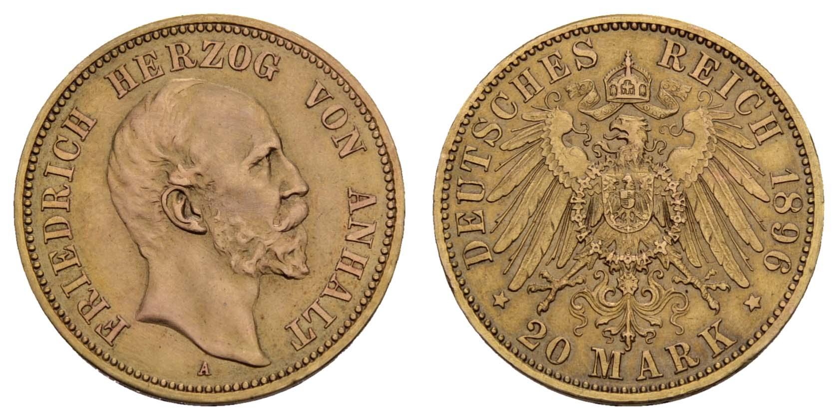 Lot 800 - deutschland Kaiserreich Goldmünzen - Anhalt -  Auktionshaus Ulrich Felzmann GmbH & Co. KG Coins single lots