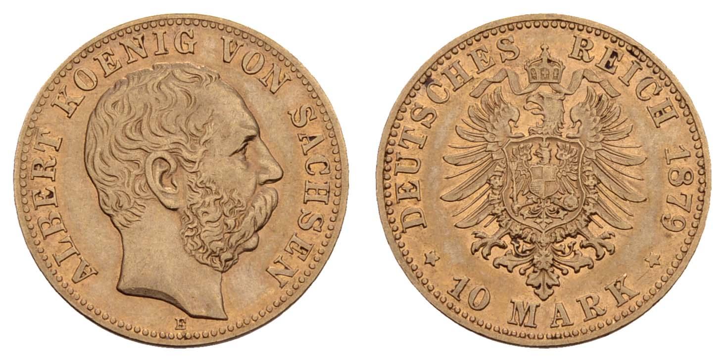 Lot 917 - deutschland Kaiserreich Goldmünzen - Sachsen -  Auktionshaus Ulrich Felzmann GmbH & Co. KG Coins single lots