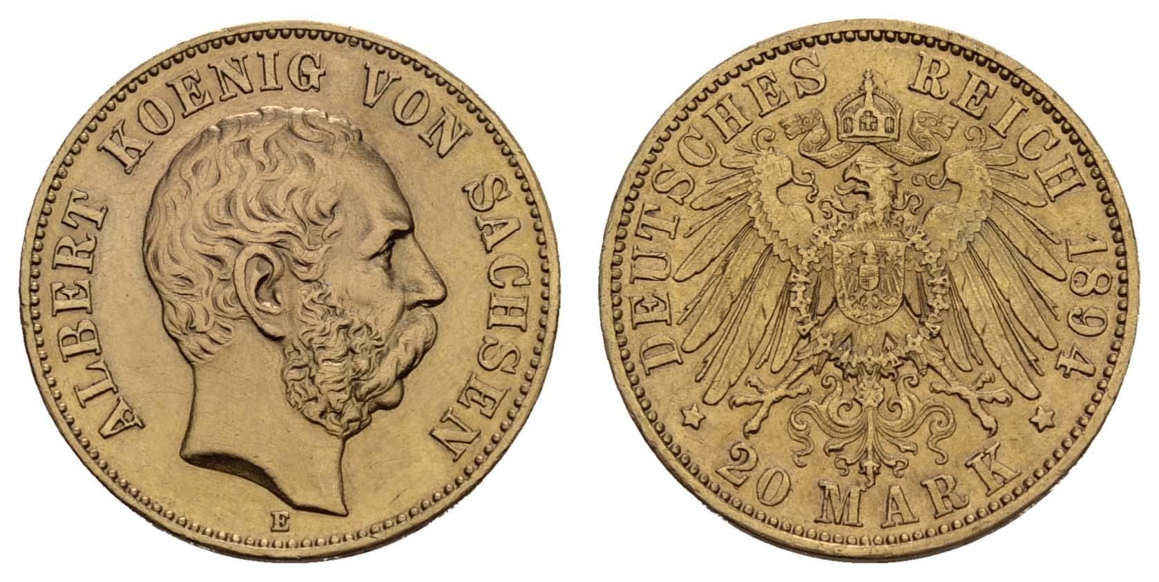 Lot 919 - deutschland Kaiserreich Goldmünzen - Sachsen -  Auktionshaus Ulrich Felzmann GmbH & Co. KG Coins single lots