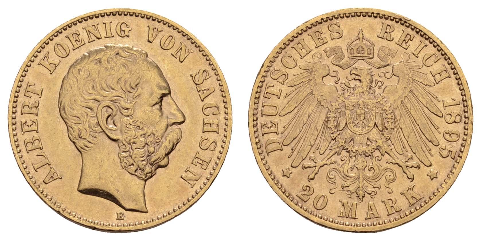 Lot 920 - deutschland Kaiserreich Goldmünzen - Sachsen -  Auktionshaus Ulrich Felzmann GmbH & Co. KG Coins single lots