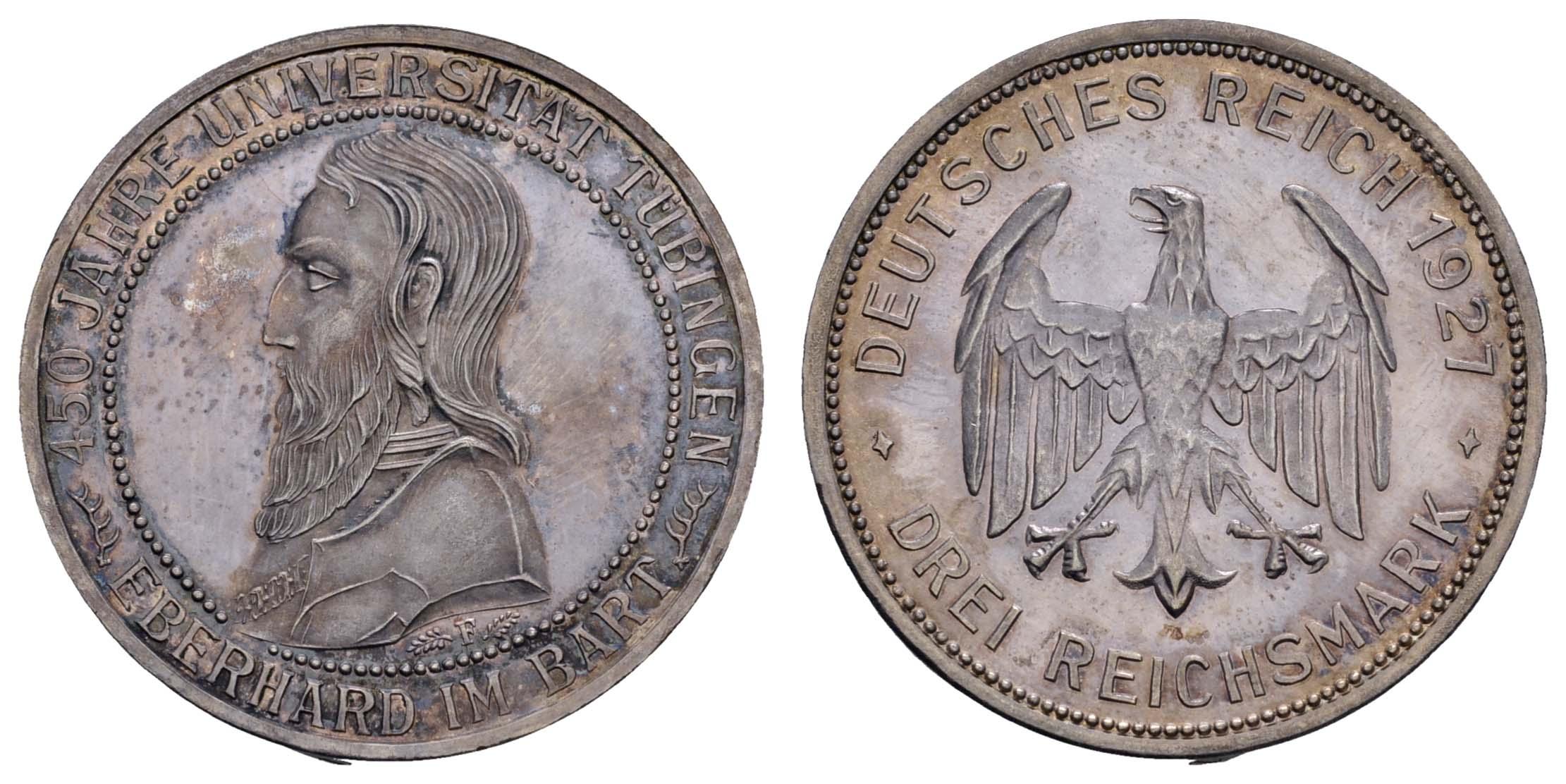 Lot 972 - deutschland weimarer republik -  Auktionshaus Ulrich Felzmann GmbH & Co. KG Coins single lots