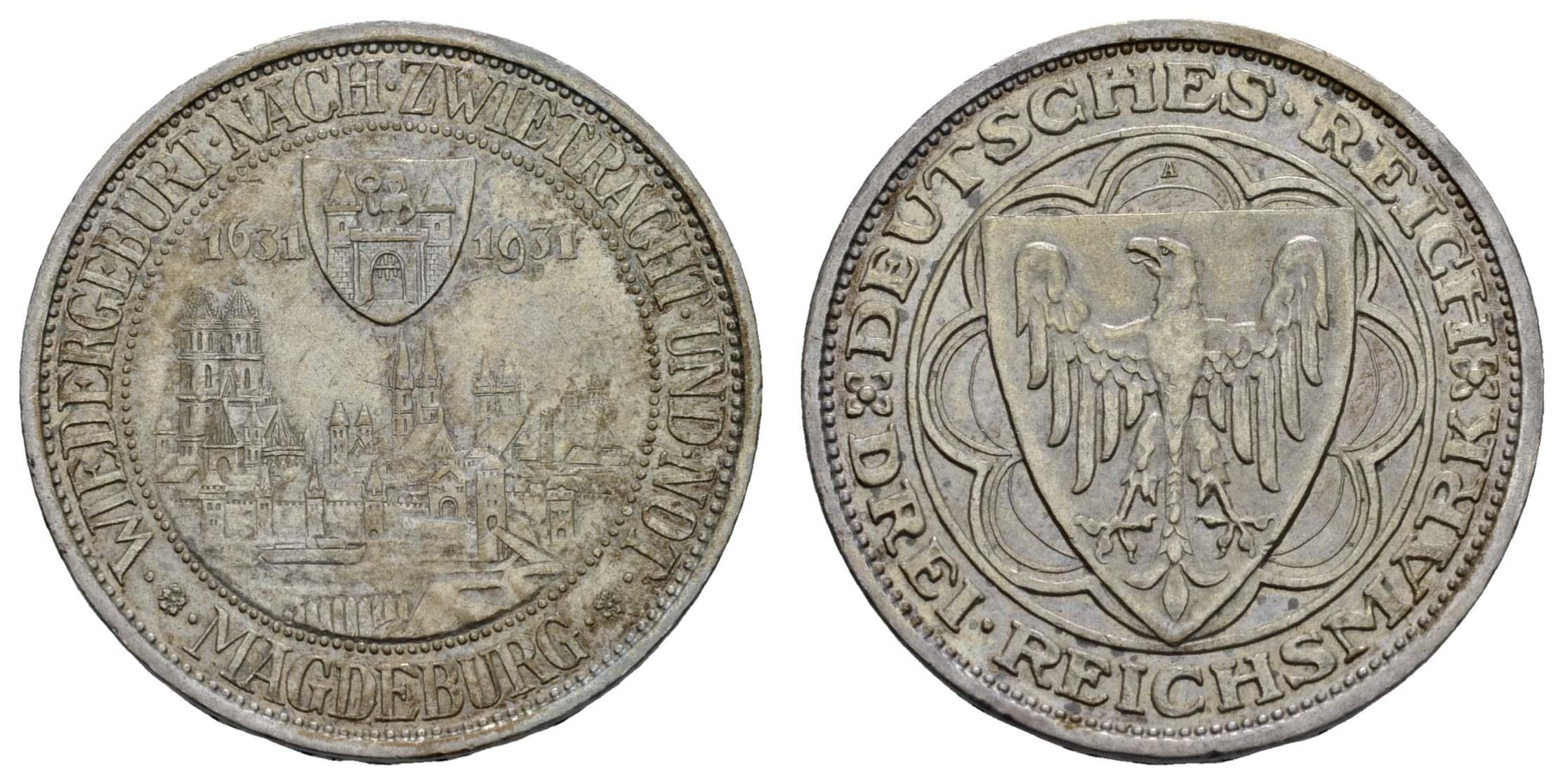 Lot 1035 - deutschland weimarer republik -  Auktionshaus Ulrich Felzmann GmbH & Co. KG Coins single lots