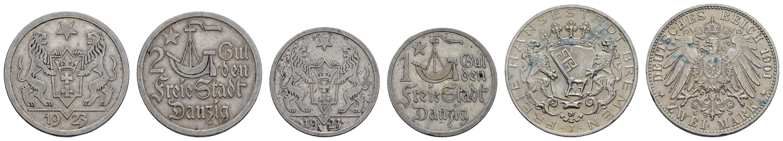 Lot 1102 - deutschland Nebengebiete - Danzig -  Auktionshaus Ulrich Felzmann GmbH & Co. KG Coins single lots