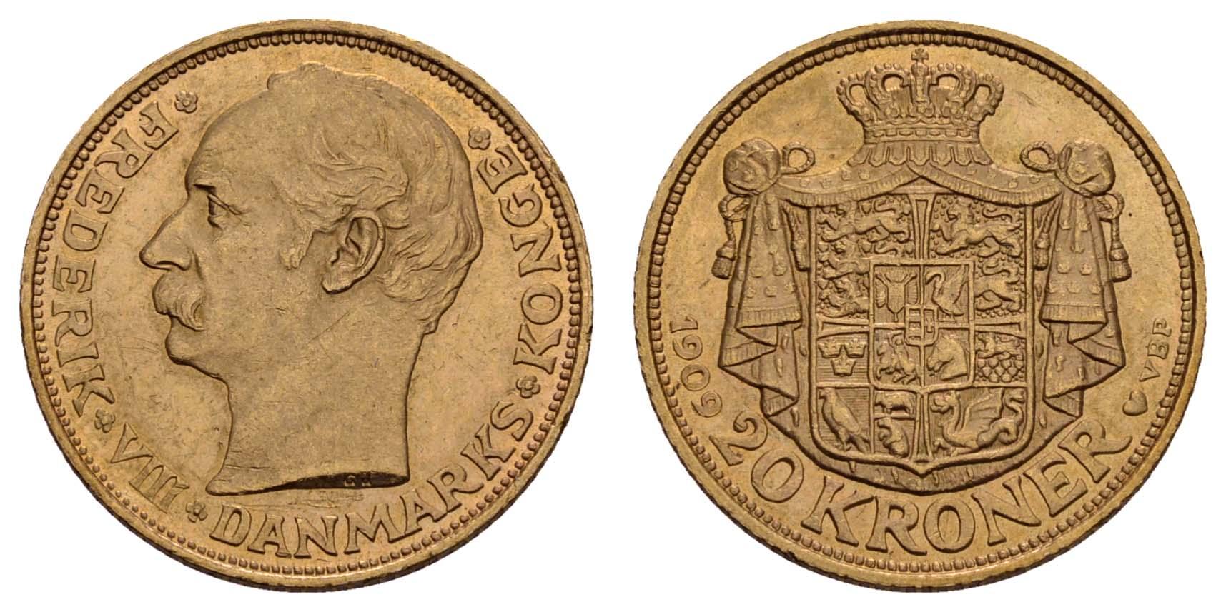 Lot 1454 - europa ab 1800 - Dänemark -  Auktionshaus Ulrich Felzmann GmbH & Co. KG Coins single lots