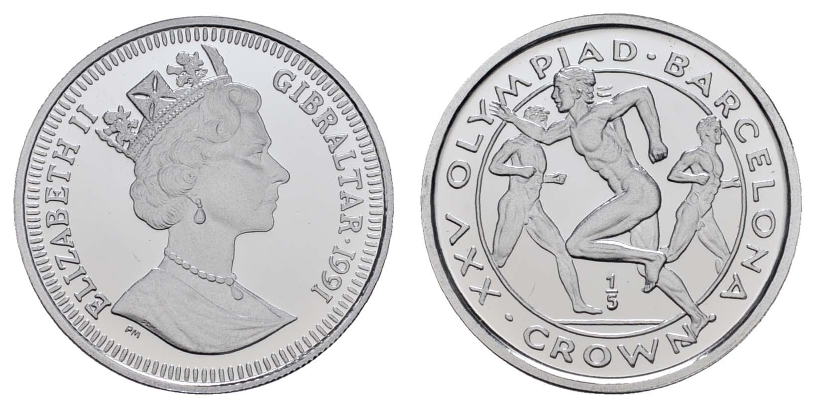 Lot 1548 - europa ab 1800 - Gibraltar -  Auktionshaus Ulrich Felzmann GmbH & Co. KG Coins single lots