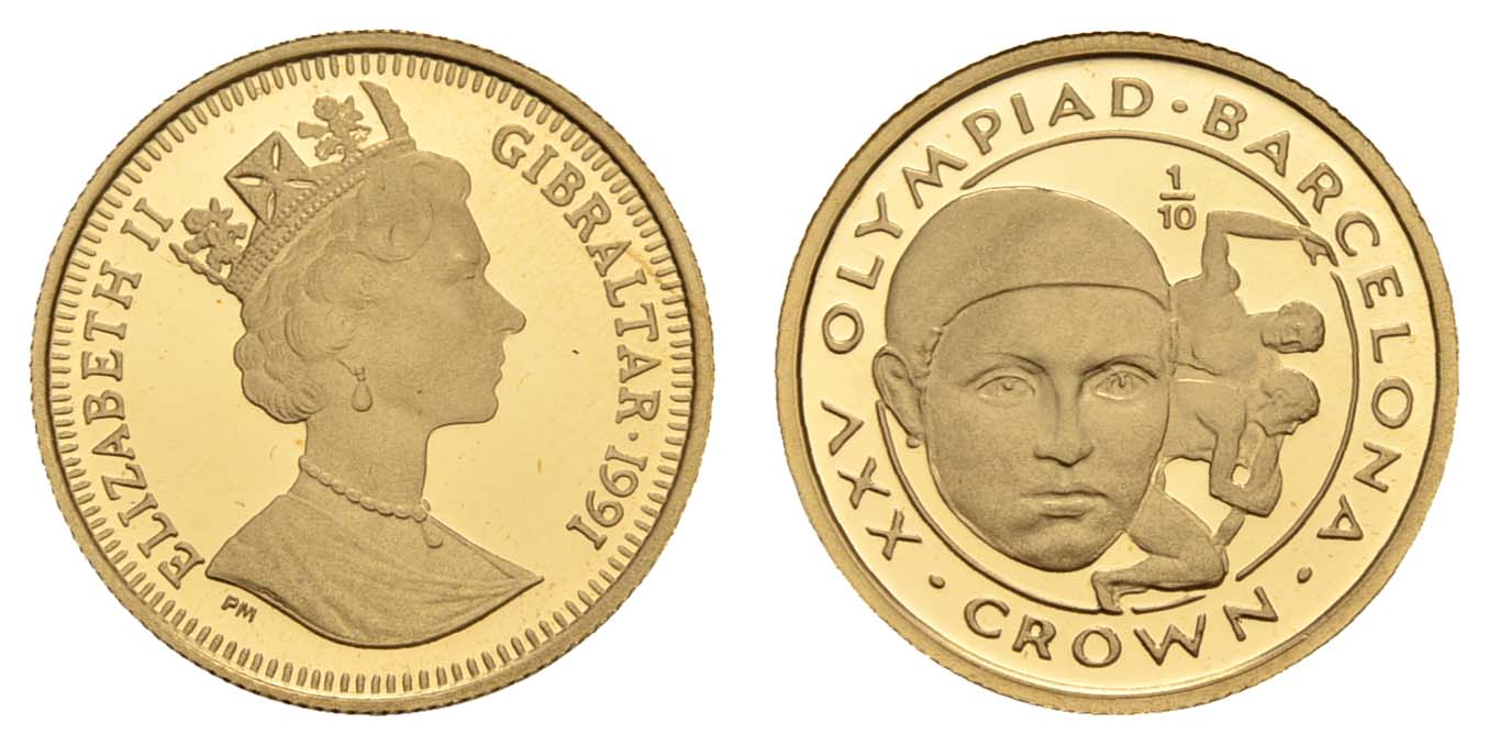 Lot 1555 - europa ab 1800 - Gibraltar -  Auktionshaus Ulrich Felzmann GmbH & Co. KG Coins single lots