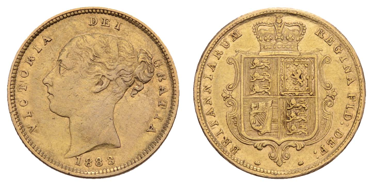 Lot 1577 - europa ab 1800 - Großbritannien -  Auktionshaus Ulrich Felzmann GmbH & Co. KG Coins single lots