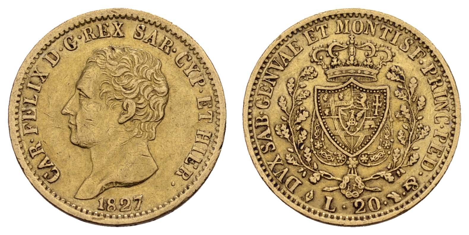 Lot 1627 - europa ab 1800 - Italien-Sardinien -  Auktionshaus Ulrich Felzmann GmbH & Co. KG Coins single lots