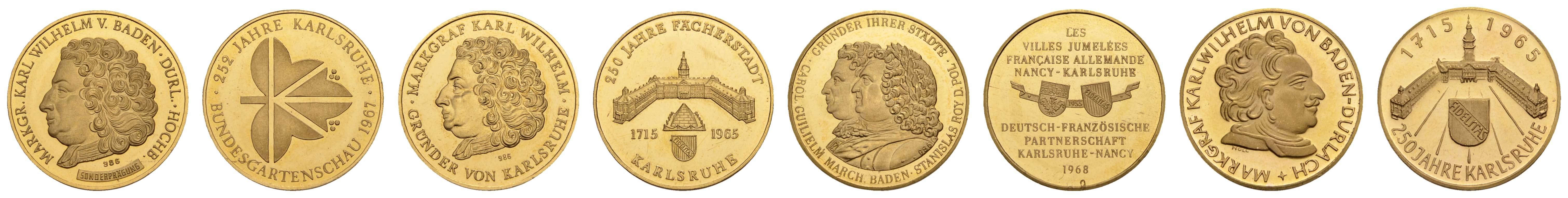 Lot 2185 - medaillen Gold-, Platin- und Palladiummedaillen - Deutschland -  Auktionshaus Ulrich Felzmann GmbH & Co. KG Coins single lots