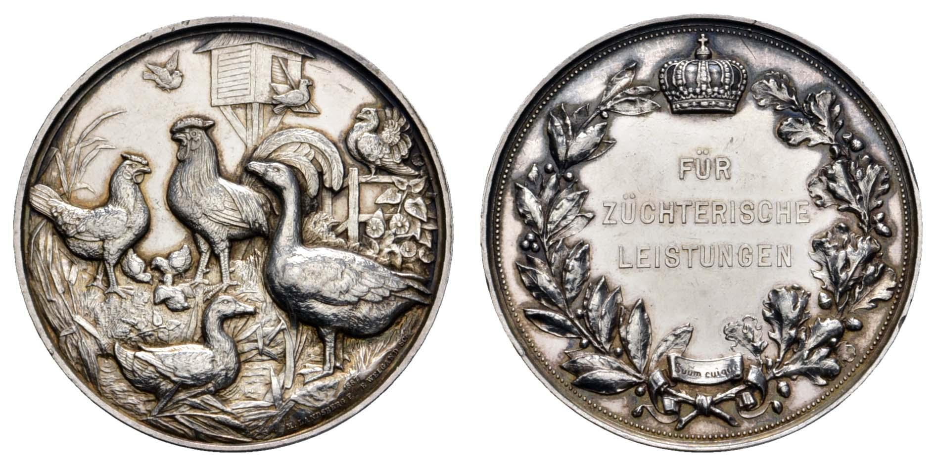 Lot 2233 - medaillen Sonstige Medaillen - Deutschland -  Auktionshaus Ulrich Felzmann GmbH & Co. KG Coins single lots