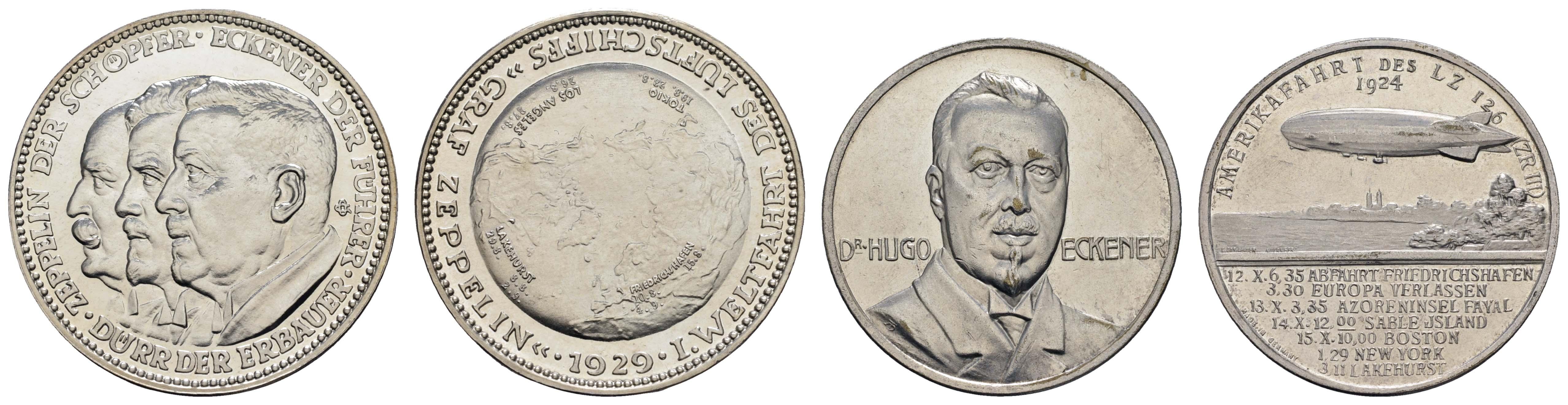 Lot 2325 - medaillen Sonstige Medaillen - Zeppelin -  Auktionshaus Ulrich Felzmann GmbH & Co. KG Coins single lots