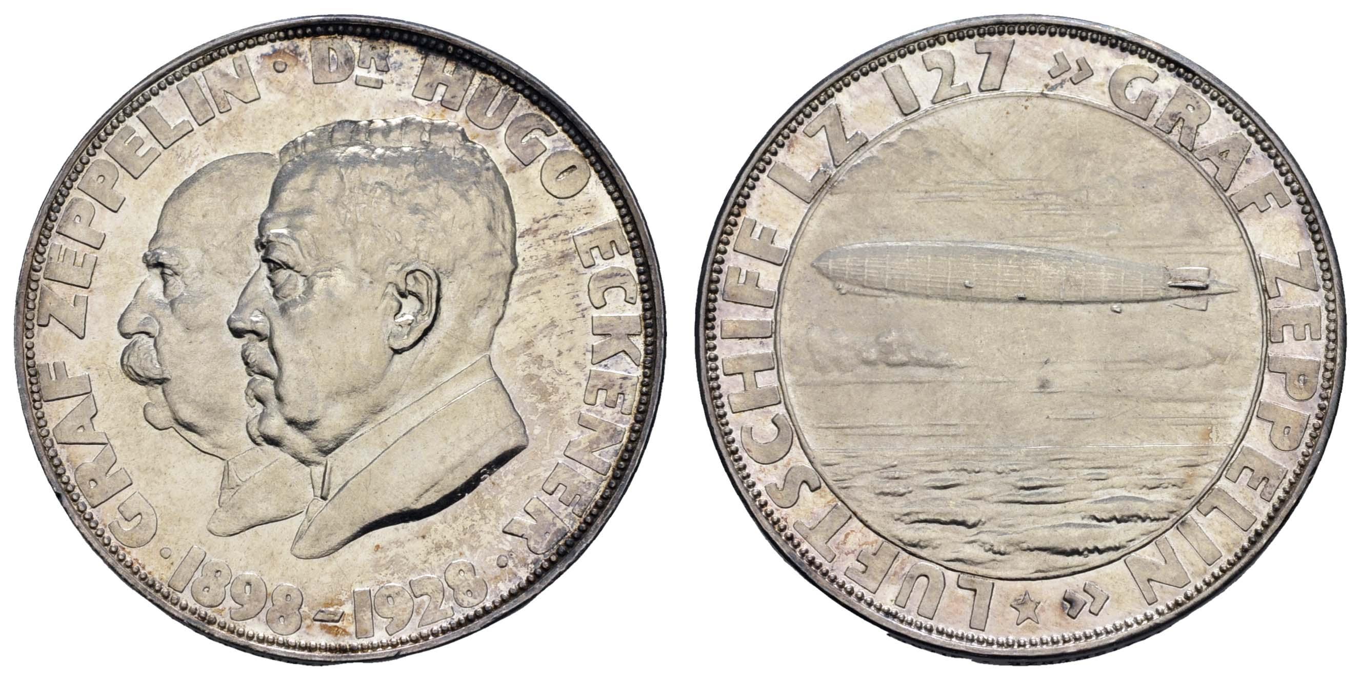 Lot 2327 - medaillen Sonstige Medaillen - Zeppelin -  Auktionshaus Ulrich Felzmann GmbH & Co. KG Coins single lots