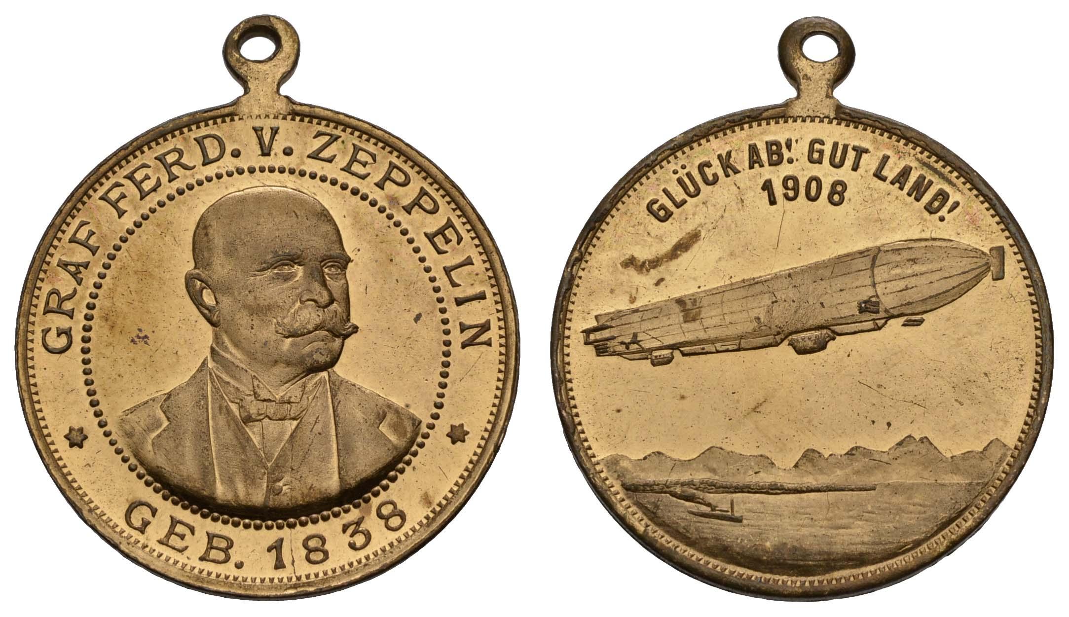 Lot 2332 - medaillen Sonstige Medaillen - Zeppelin -  Auktionshaus Ulrich Felzmann GmbH & Co. KG Coins single lots