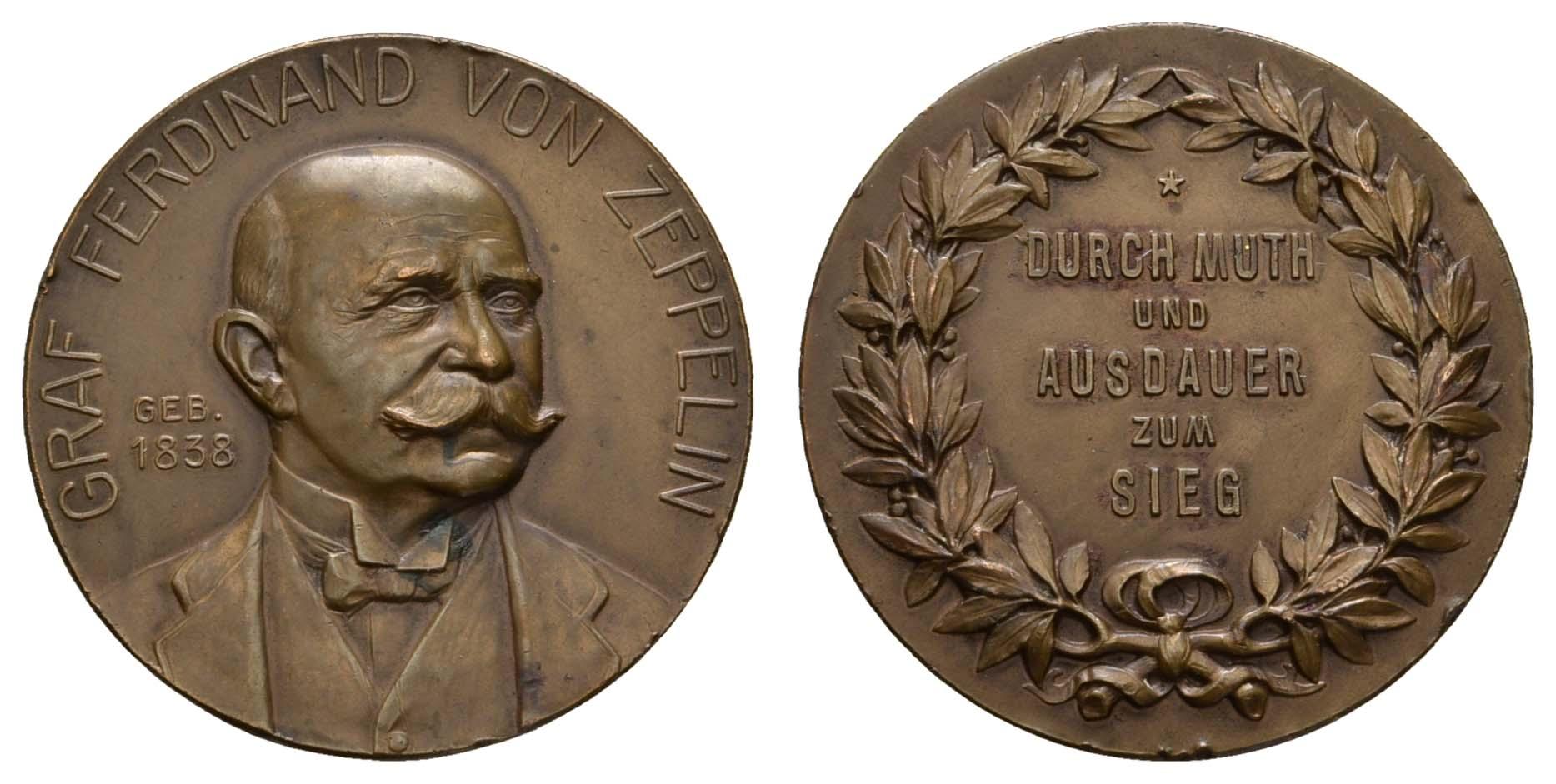 Lot 2333 - medaillen Sonstige Medaillen - Zeppelin -  Auktionshaus Ulrich Felzmann GmbH & Co. KG Coins single lots