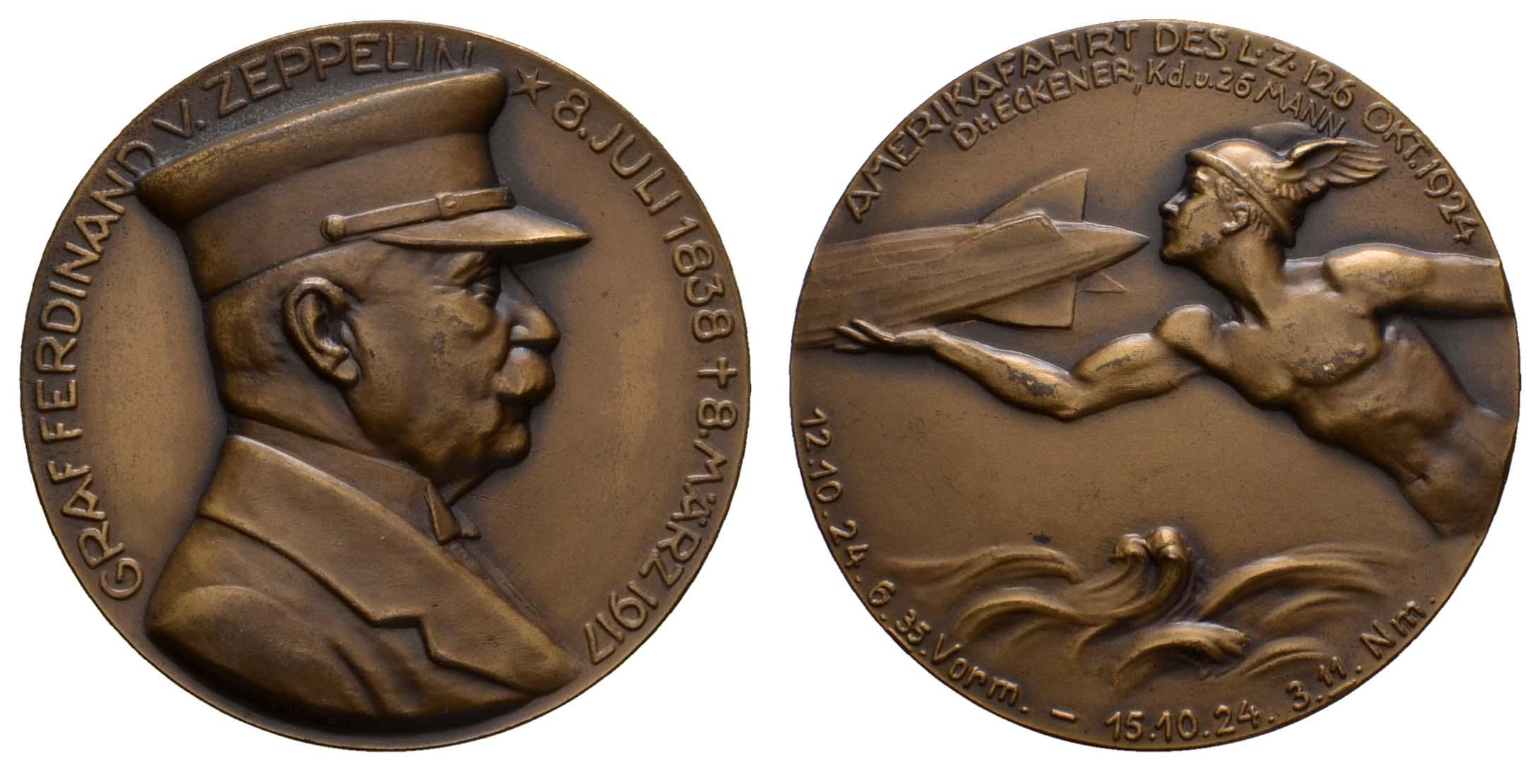 Lot 2335 - medaillen Sonstige Medaillen - Zeppelin -  Auktionshaus Ulrich Felzmann GmbH & Co. KG Coins single lots
