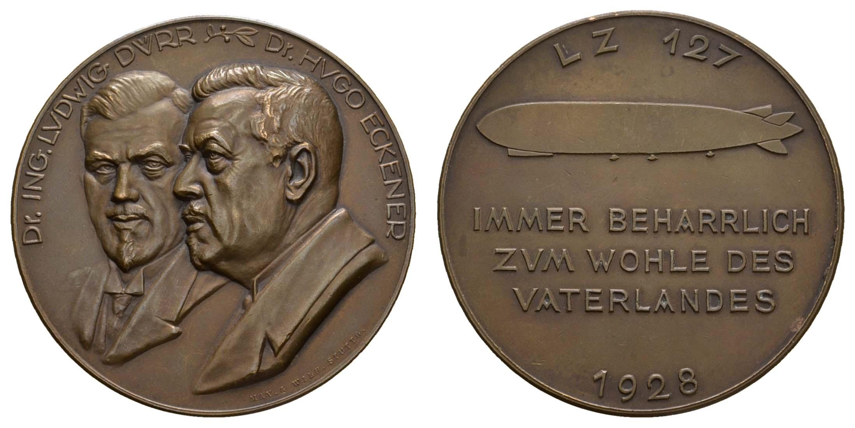 Lot 2336 - medaillen Sonstige Medaillen - Zeppelin -  Auktionshaus Ulrich Felzmann GmbH & Co. KG Coins single lots