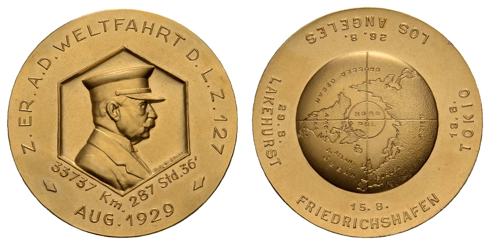 Lot 2341 - medaillen Sonstige Medaillen - Zeppelin -  Auktionshaus Ulrich Felzmann GmbH & Co. KG Coins single lots