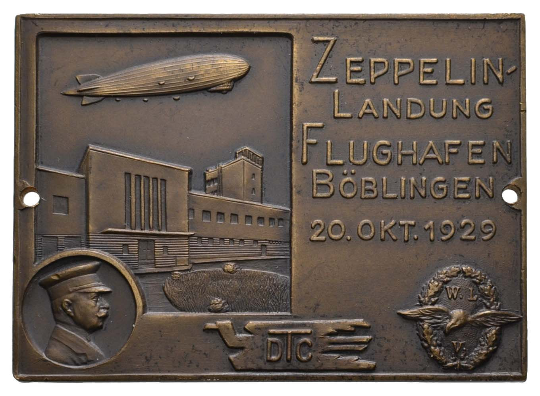 Lot 2342 - medaillen Sonstige Medaillen - Zeppelin -  Auktionshaus Ulrich Felzmann GmbH & Co. KG Coins single lots