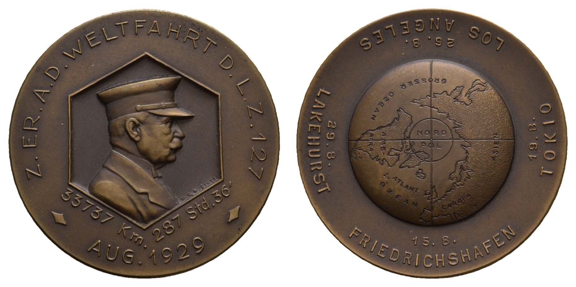 Lot 2343 - medaillen Sonstige Medaillen - Zeppelin -  Auktionshaus Ulrich Felzmann GmbH & Co. KG Coins single lots