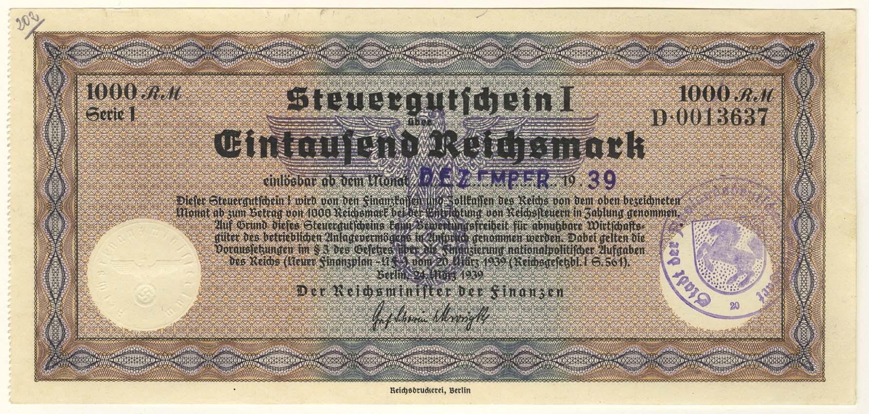 Lot 2368 - Geldscheine Deutschland - Deutsches Reich -  Auktionshaus Ulrich Felzmann GmbH & Co. KG Coins single lots
