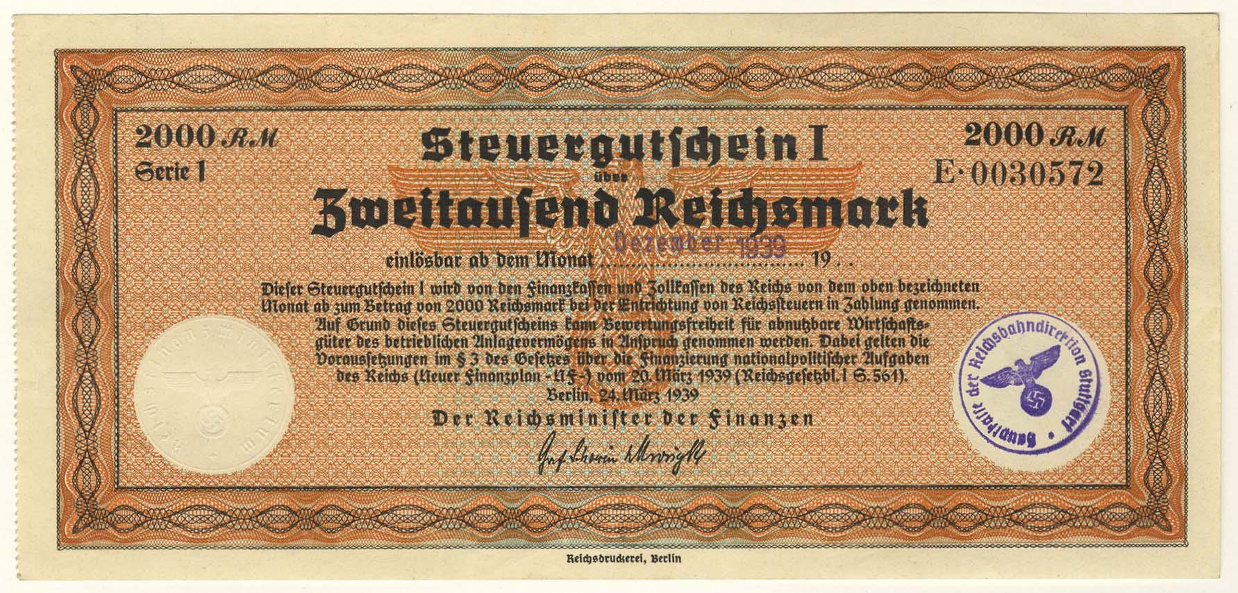 Lot 2370 - Geldscheine Deutschland - Deutsches Reich -  Auktionshaus Ulrich Felzmann GmbH & Co. KG Coins single lots