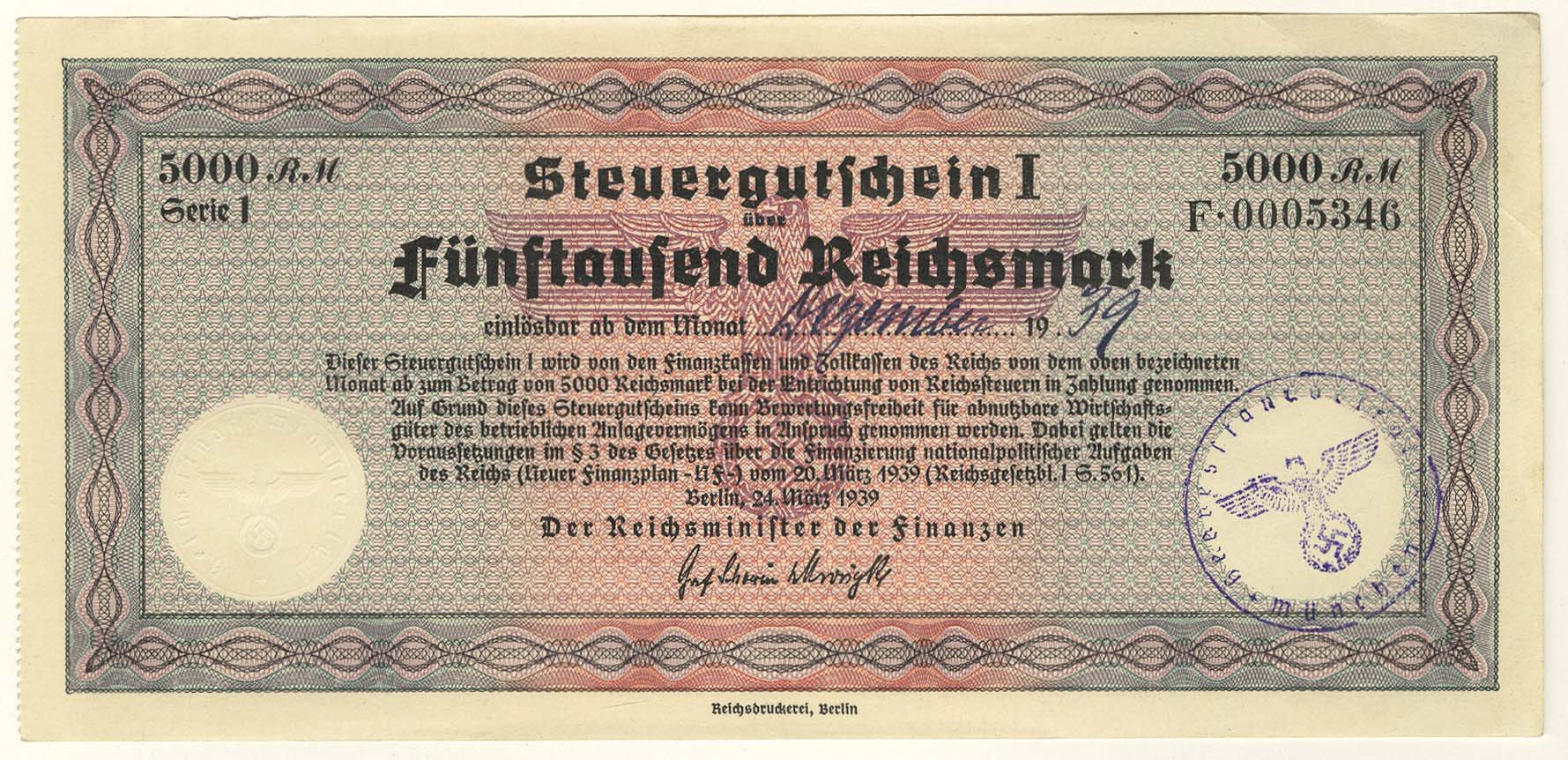 Lot 2373 - Geldscheine Deutschland - Deutsches Reich -  Auktionshaus Ulrich Felzmann GmbH & Co. KG Coins single lots