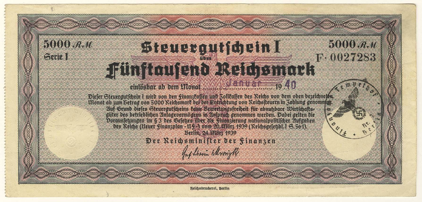 Lot 2374 - Geldscheine Deutschland - Deutsches Reich -  Auktionshaus Ulrich Felzmann GmbH & Co. KG Coins single lots