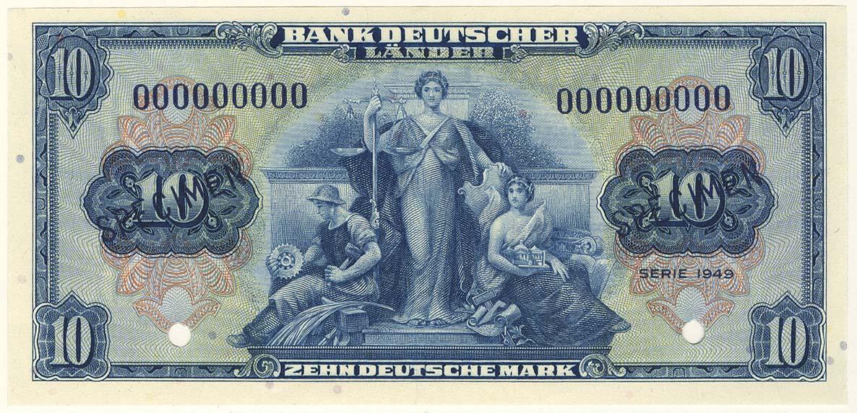 Lot 2384 - Geldscheine Deutschland - Bank Deutscher Länder -  Auktionshaus Ulrich Felzmann GmbH & Co. KG Coins single lots