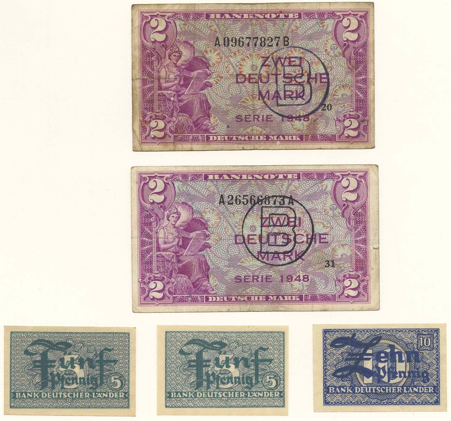 Lot 2386 - Geldscheine deutschland - bundesrepublik -  Auktionshaus Ulrich Felzmann GmbH & Co. KG Coins single lots