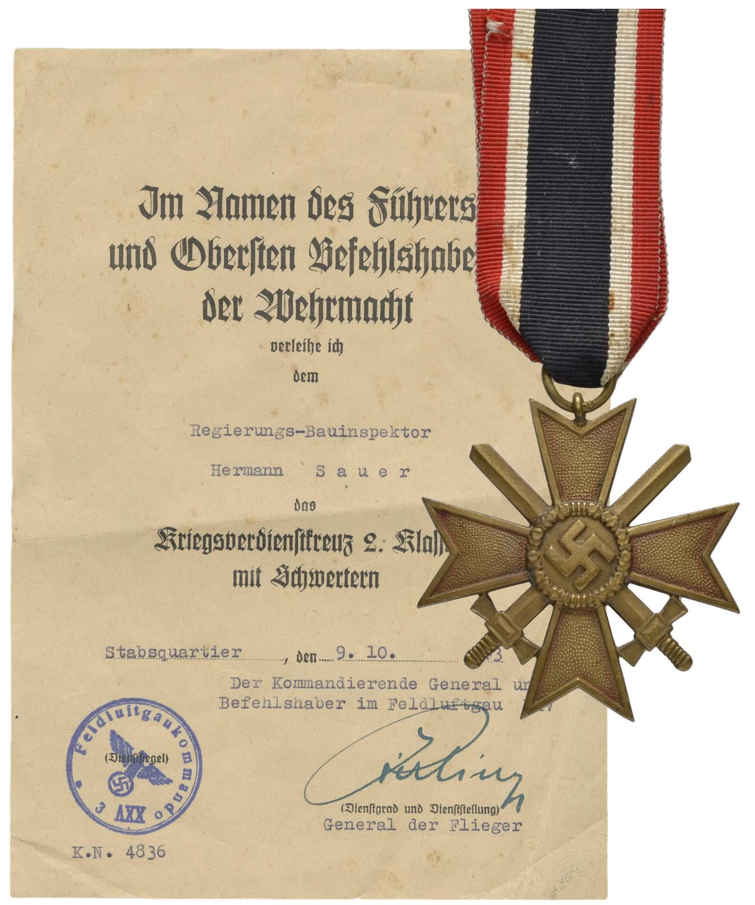 Lot 2479 - orden und abzeichen Deutschland - 2. WK Militärische Auszeichnungen Allgemein -  Auktionshaus Ulrich Felzmann GmbH & Co. KG Coins single lots