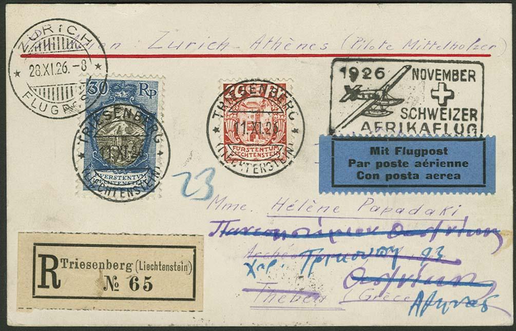 Lot 4052 - flugpost Flugpost International - Alphabetisch nach Ländern -  Auktionshaus Ulrich Felzmann GmbH & Co. KG