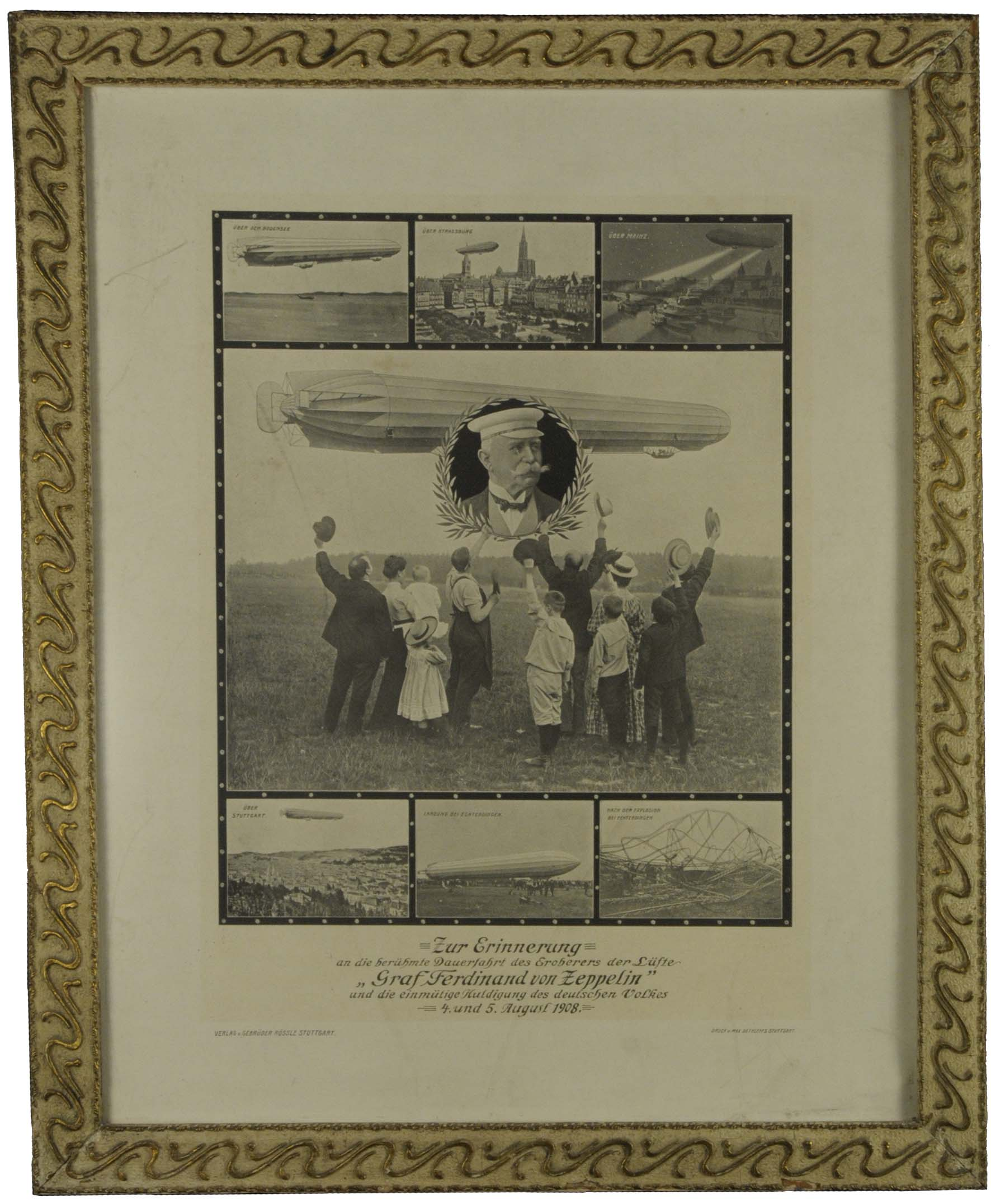 Lot 4095 - Zeppelin-Memorabilien Memorabilien -  Auktionshaus Ulrich Felzmann GmbH & Co. KG