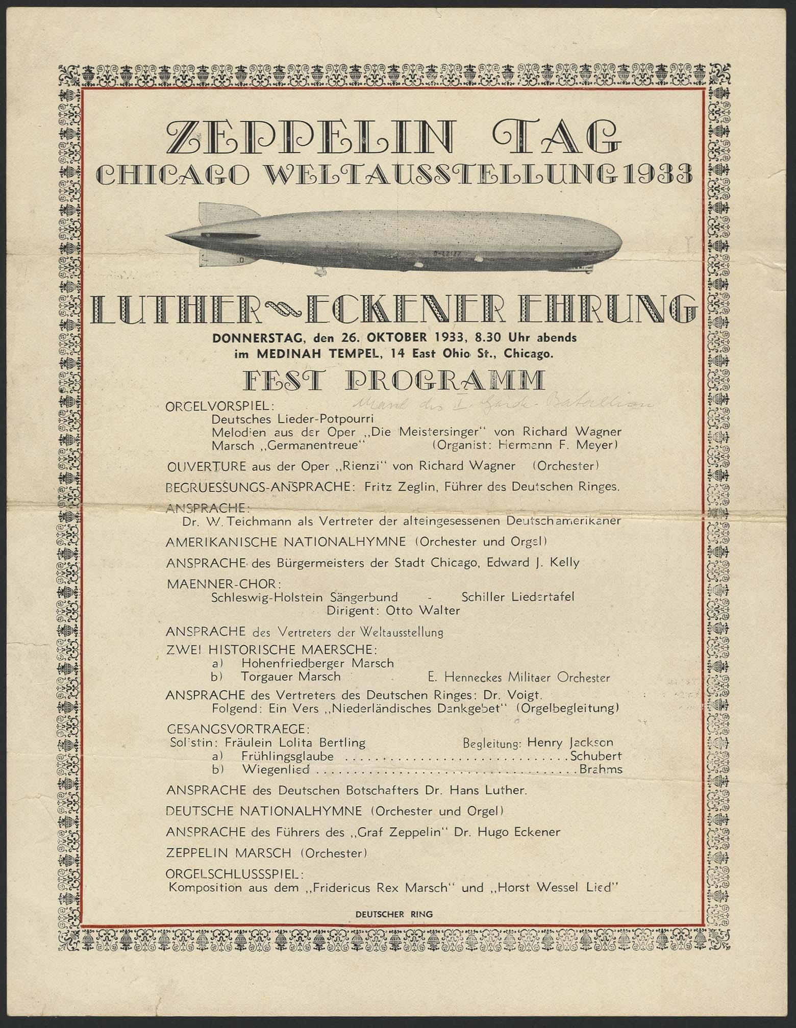 Lot 4105 - Zeppelin-Memorabilien Memorabilien -  Auktionshaus Ulrich Felzmann GmbH & Co. KG