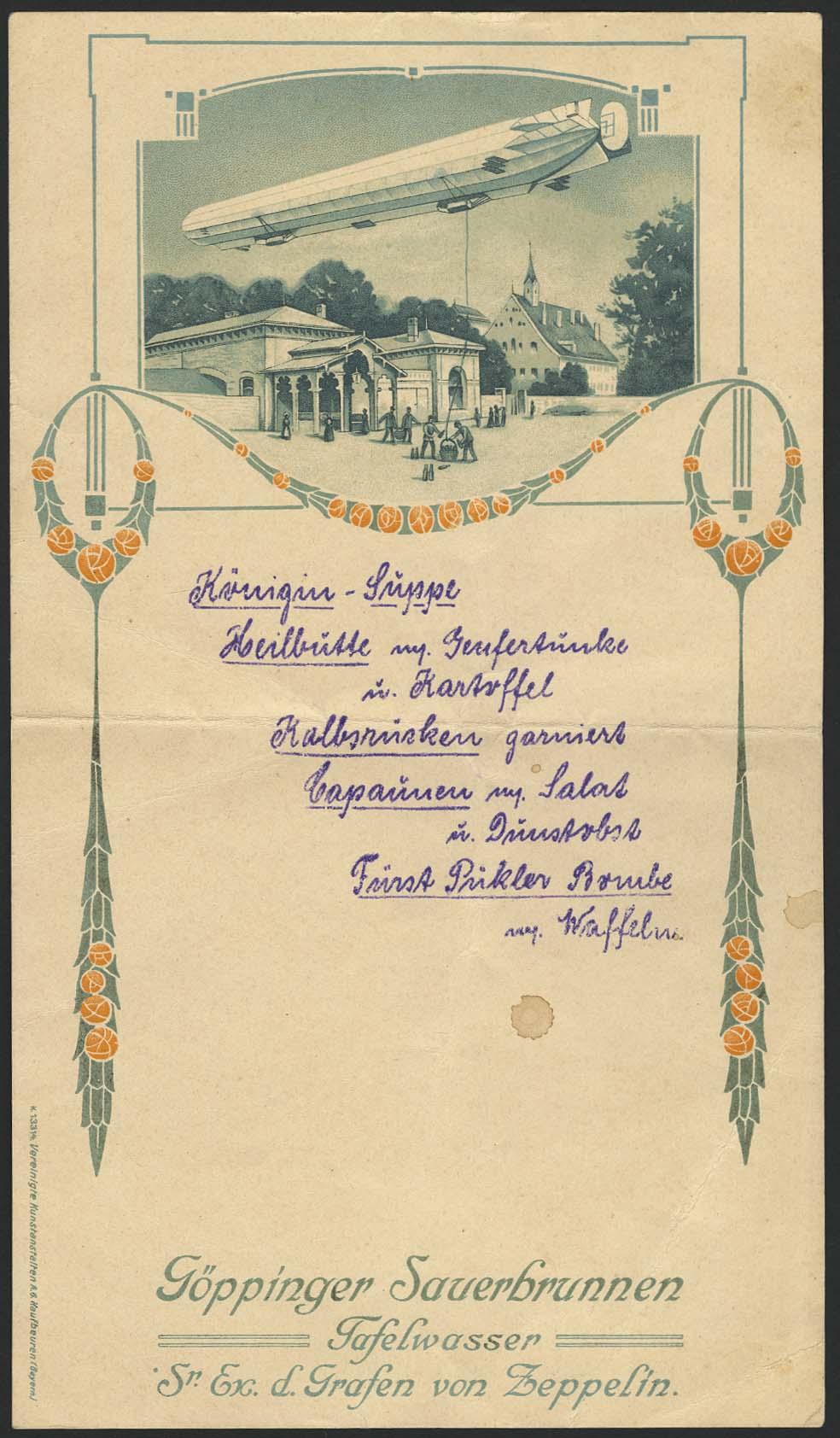 Lot 4110 - Zeppelin-Memorabilien Memorabilien -  Auktionshaus Ulrich Felzmann GmbH & Co. KG